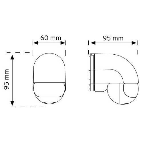 Nade 10180 Duvar Tipi 180 Derece Hareket Sensörü