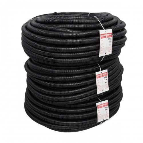 Zeybek 32 Spiral Boru Siyah (1 metre)