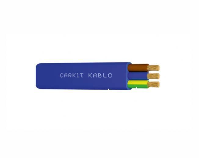 3*2,5 Mm Yassı TTR Kablo (1 metre)