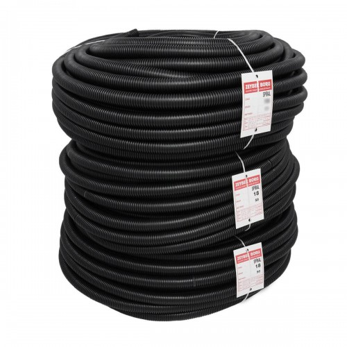 Zeybek 40 Spiral Boru Siyah (1 metre)