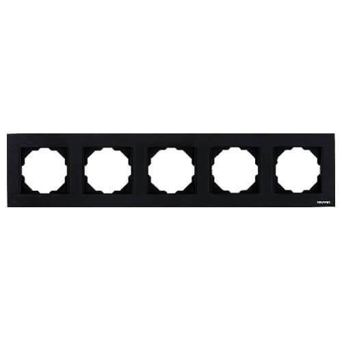Nauffen Koyu Siyah Beşli Çerçeve