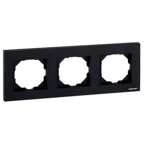 Nauffen Koyu Siyah Üçlü Çerçeve