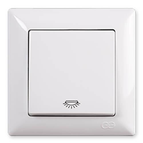 Günsan Visage Beyaz Light Anahtar - Çerçevesiz
