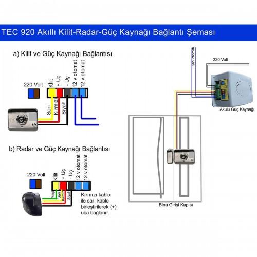 Tecim Tec-925 Radarlı Akıllı Kilit