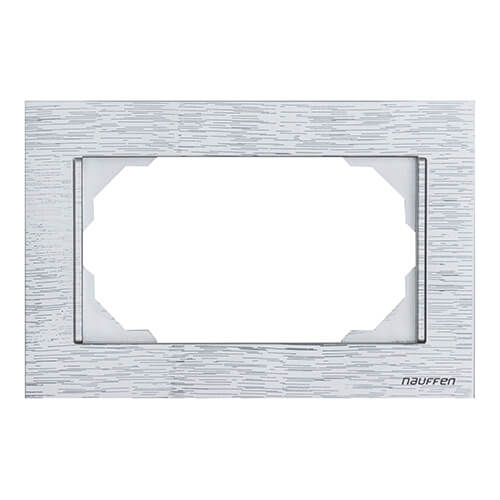Nauffen Titanyum İkili Priz Çerçevesi