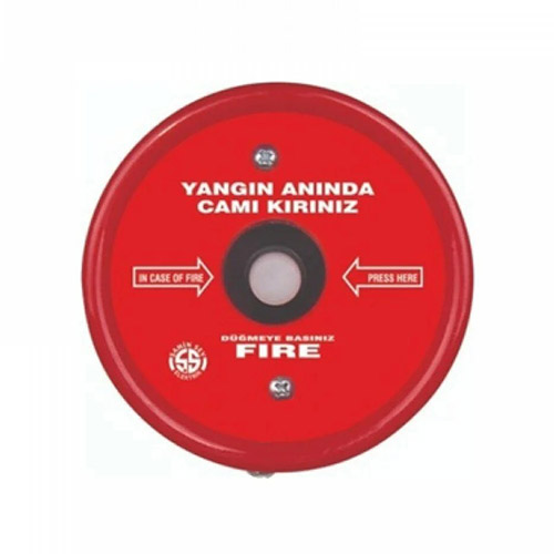 Çebi Sıva Üstü Yangın İhbar Butonu - Yuvarlak